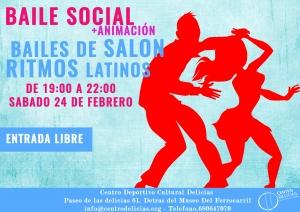 Baile social de Salón y Ritmos latinos @ Centro Deportivo Cultural Delicias