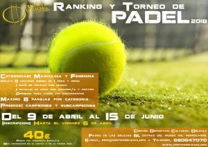 Ranking de padel @ Centro Deportivo Cultural Delicias